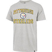 '47 Men's Pittsburgh Steelers Franklin Arch Grey T-Shirt