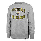 '47 Men's Pittsburgh Steelers Arch Heather Grey Sweatshirt