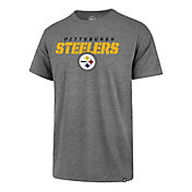 '47 Men's Pittsburgh Steelers Traction Rival Heather Grey T-Shirt