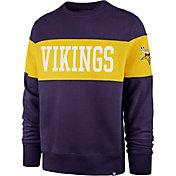 '47 Men's Minnesota Vikings Interstate Crew Purple Sweatshirt