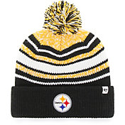 '47 Youth Pittsburgh Steelers Bubbler Black Knit Hat