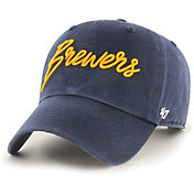 '47 Women's Milwaukee Brewers Navy Lyric Clean Up Adjustable Hat