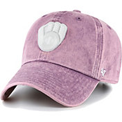'47 Women's Milwaukee Brewers Purple Snow Cone Clean Up Adjustable Hat
