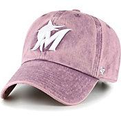 '47 Women's Miami Marlins Purple Snow Cone Clean Up Adjustable Hat