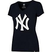 '47 Women's New York Yankees Navy Splitter V-Neck T-Shirt
