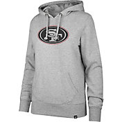 '47 Women's San Francisco 49ers Logo Headline Grey Hoodie