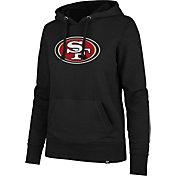 '47 Women's San Francisco 49ers Logo Headline Black Hoodie