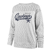 '47 Women's Dallas Cowboys Script White Out White Long Sleeve T-Shirt