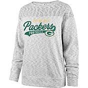 '47 Women's Green Bay Packers Script Legacy Whiteout Crew Sweatshirt