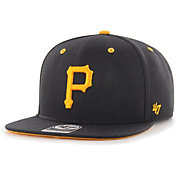 '47 Youth Boys' Pittsburgh Pirates Black Vow Captain Adjustable Snapback Hat