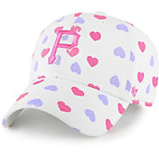 '47 Youth Girls' Pittsburgh Pirates White Jamboree Clean Up Adjustable Hat