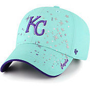 '47 Youth Girls' Kansas City Royals Blue Stardust Clean Up Adjustable Hat