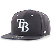 '47 Youth Boys' Tampa Bay Rays Navy Vow Captain Adjustable Snapback Hat
