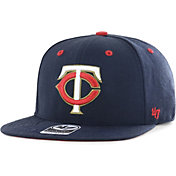 '47 Youth Boys' Minnesota Twins Navy Vow Captain Adjustable Snapback Hat