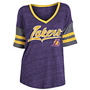 New Era Women's Los Angeles Lakers Scripted Vintage T-Shirt