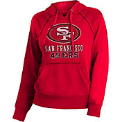 NFL Team Apparel Women's San Francisco 49ers Red Pullover Hoodie