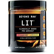 GNC Beyond Raw Lit Pre-Workout Strawberry Lemonade 30 Servings