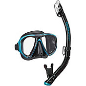 TUSA Sport Adult PowerView Dry Snorkeling Combo with Reusable Bag
