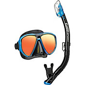 TUSA Sport Adult Powerview Dry Snorkeling Combo Set with Reusable Bag