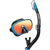 TUSA Sport Adult Serene Mirror Snorkeling Combo Set with Reusable Bag