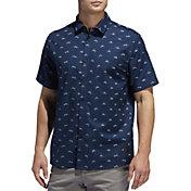 adidas Men's Adicross Stretch Woven Golf Shirt
