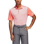 adidas Men's Ultimate365 3-Color Stripe Golf Polo