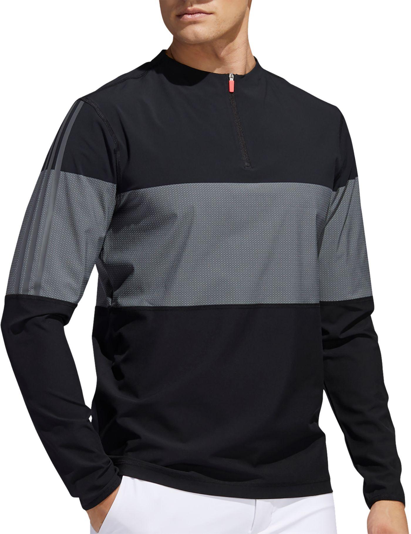 adidas Men's Lightweight ¼ Zip Golf Windbreaker