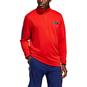 adidas Men's Lightweight Layering USA ¼ Zip Golf Pullover