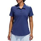adidas Women's Ultimate 365 Heathered Short Sleeve Golf Polo