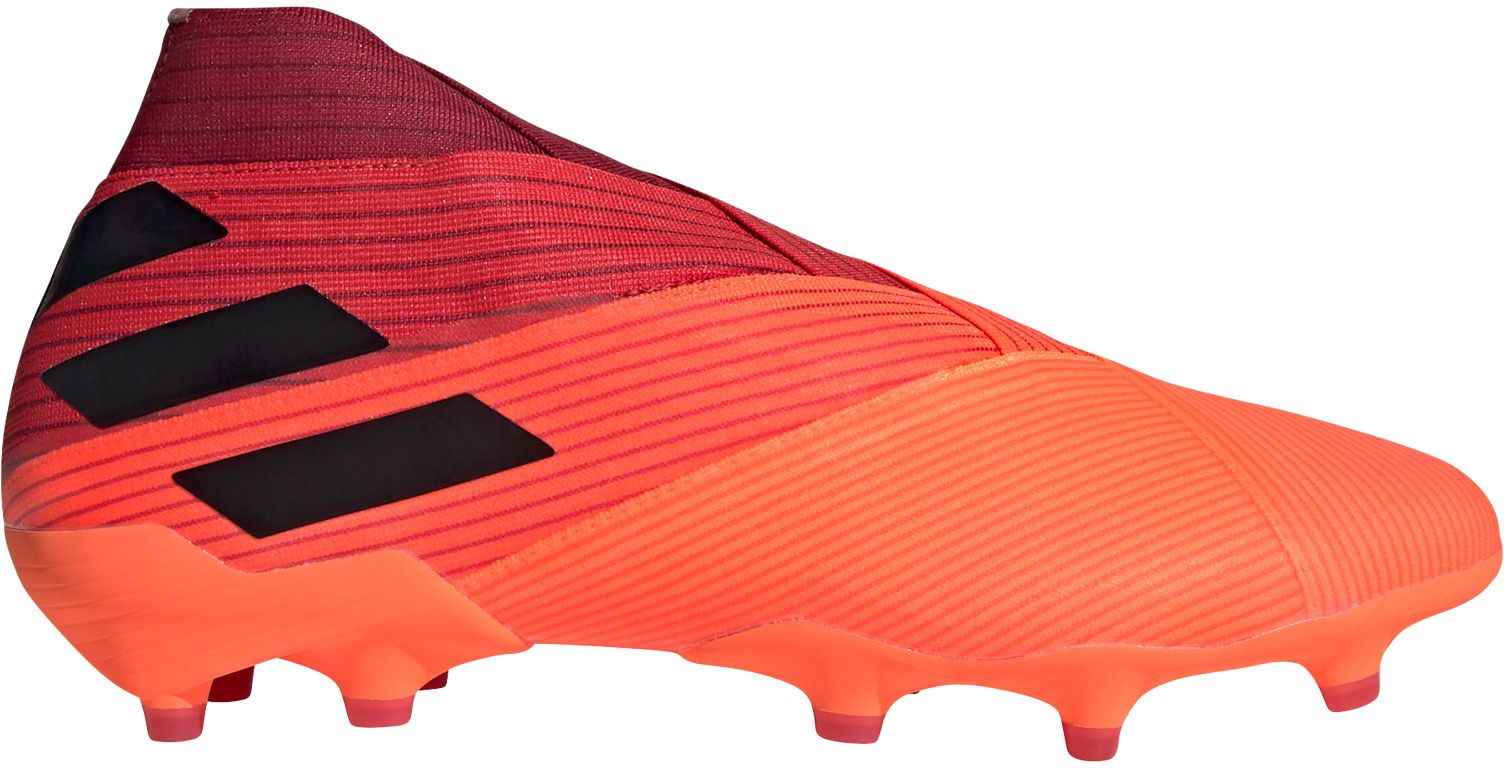adidas Men's Nemeziz 19+ FG Soccer Cleats, Coral/black