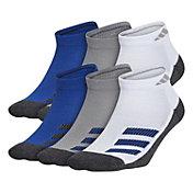 adidas Boys' Cush Angle Stripe Low Cut Socks 6 Pack
