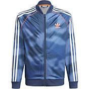 adidas Boys' Blue Camo Track Jacket