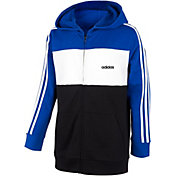 adidas Boys' Color Blocked Full Zip Hoodie