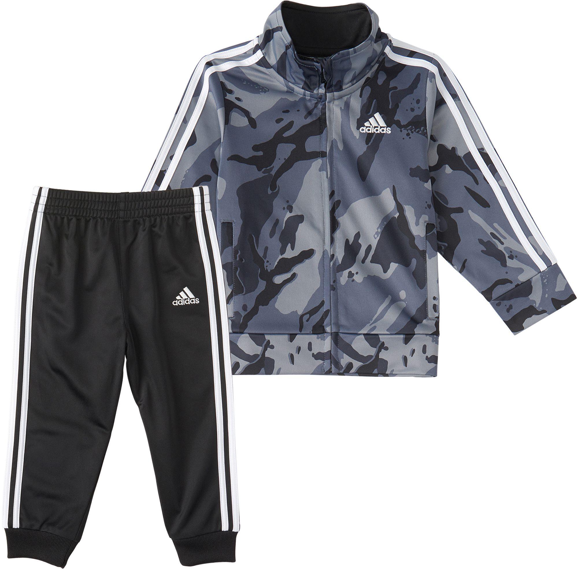 adidas Little Boys' Zip Front Classic Camo Jacket And Jogger Pants Set, Size 4, Adi Black thumbnail