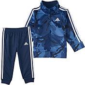 adidas Little Boys' Zip Front Classic Camo Jacket And Jogger Pants Set