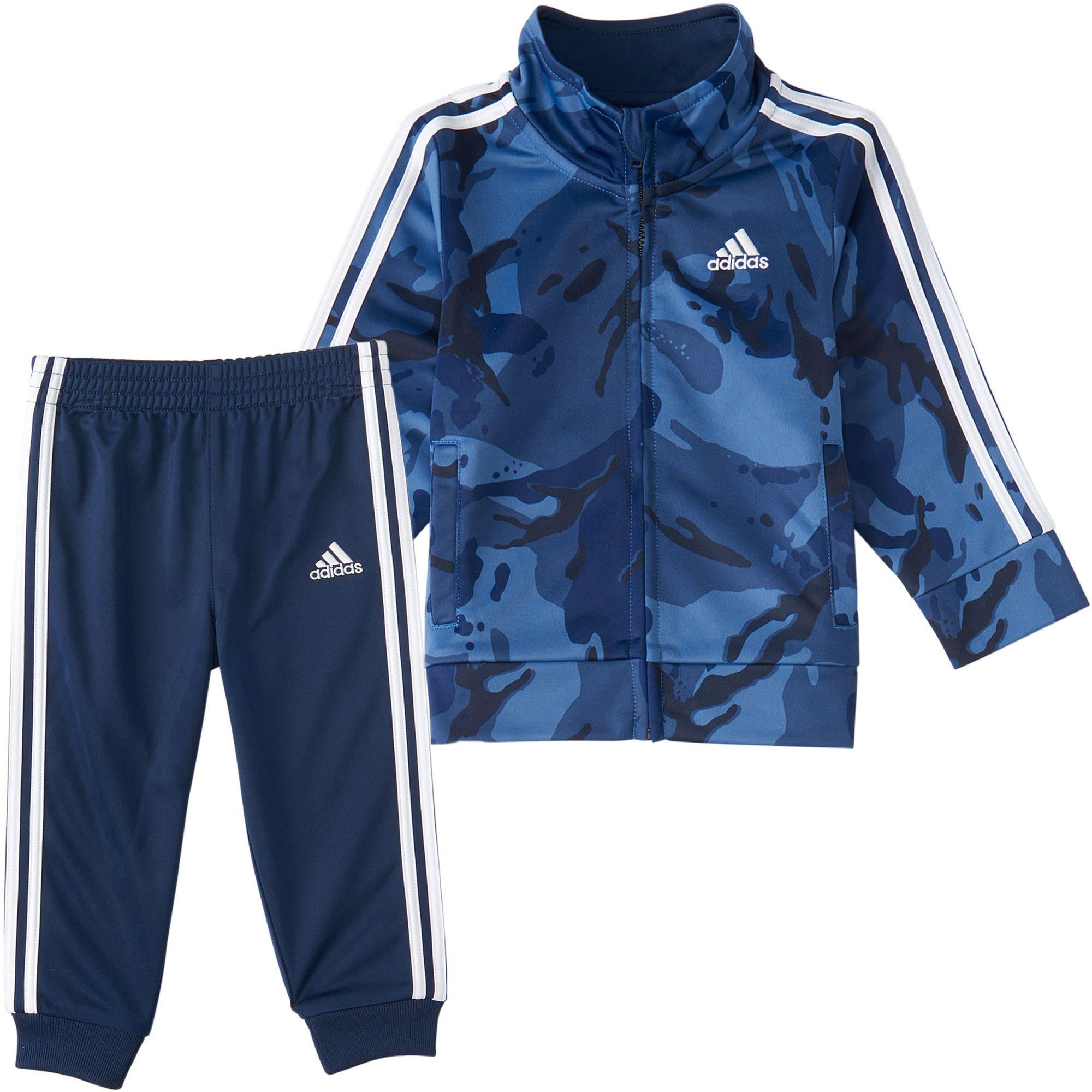 adidas Little Boys' Zip Front Classic Camo Jacket And Jogger Pants Set, Size 4, Blue thumbnail