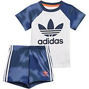 adidas Boys' Camo Print T-Shirt and Shorts Set