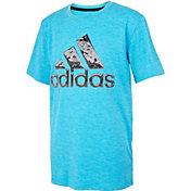 adidas Boys' AEROREADY Liquid Metal Graphic T-Shirt