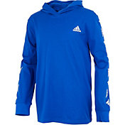 adidas Little Boys' Badge of Sport Hooded Long Sleeve Shirt