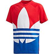 adidas Originals Boys' Americana Trefoil Short Sleeve T-Shirt