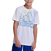 adidas Boys' AEROREADY Statement Badge Of Sport T-Shirt