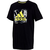 adidas Boys' Stencil Art Short Sleeve T-Shirt