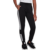 adidas Girls' Classic Stripe Cotton Fleece Joggers