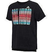 adidas Girls' Goal Minded Graphic Boxy T-Shirt