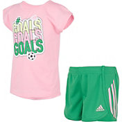adidas Toddler Graphic Short Sleeve T-Shirt and Shorts Set