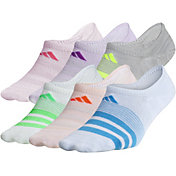 adidas Girls' Superlite Super No Show Socks 6 Pack