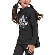 adidas Girls' Linear Logo Long Sleeve Hoodie T-Shirt