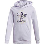 adidas Originals Girls' Printed Trefoil Hoodie