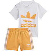adidas Infants' Trefoil Shorts Tee Set