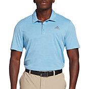 adidas Men's Advantage Novelty Heather Short Sleeve Golf Polo